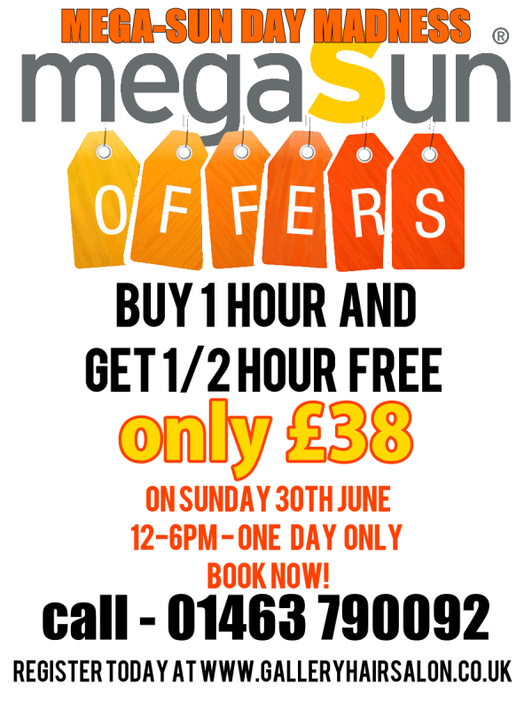 MegaSun Sunday Sunbed Madness at the Gallery Beauty Salon