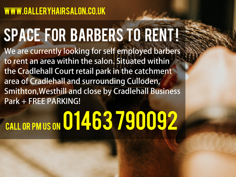 Self Employed Barbers Space to Rent